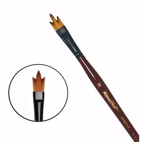 Купить Кисть синтетика №10 трезубец Roubloff 12RB короткая ручка, Россия