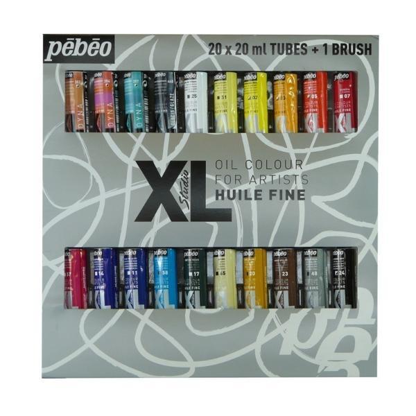 """Купить со скидкой Набор масла Pebeo """"XL"""" 20 цв*20 мл + кисть"""