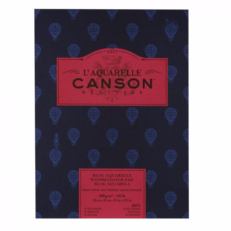 Купить Альбом-склейка для акварели Canson Heritage Satin 23x31 см 12 л 300 г, Франция