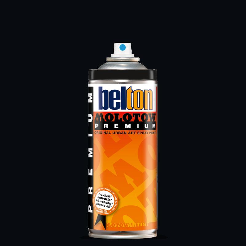 Купить Аэрозольная краска Molotow Premium belton 400 мл #221 deep black, Германия