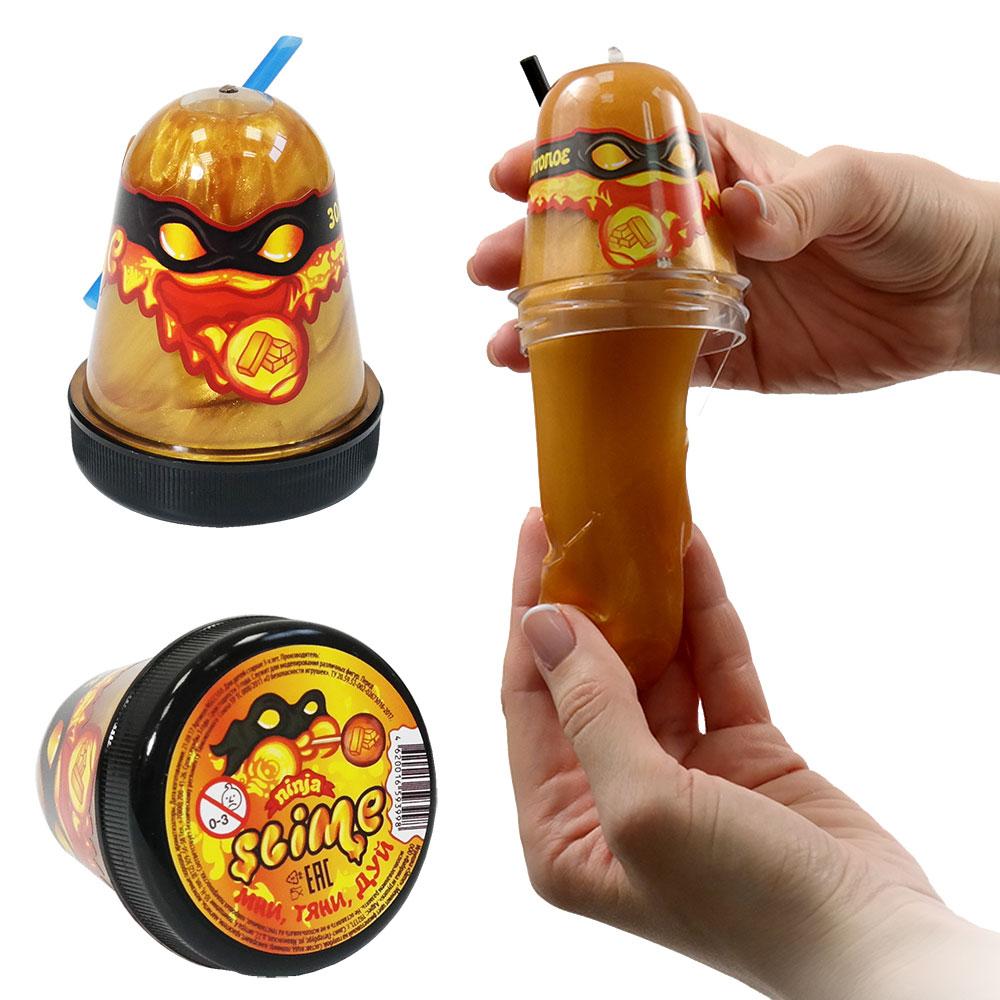 Игрушка Slime Ninja, золотой, 130 гр, Россия  - купить со скидкой
