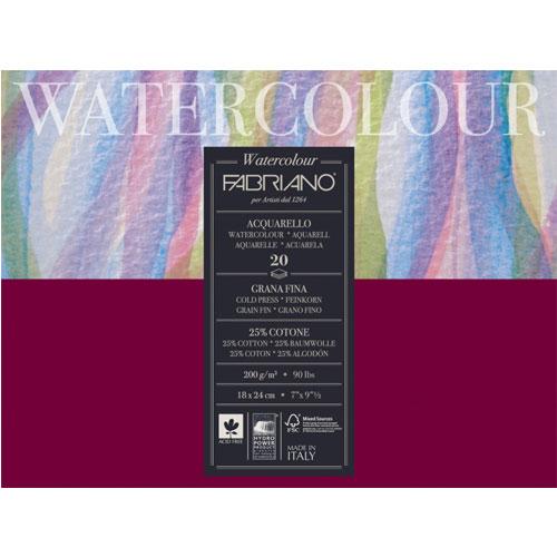 Блокнот-склейка для акварели Fabriano Watercolour 18х24 см 20 л 200 г.