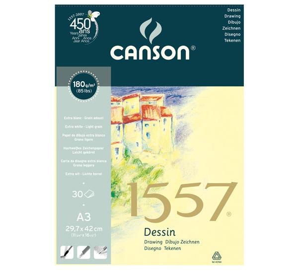 Купить Альбом для графики на спирали Canson 1557 А3 30 л 180 г, Франция