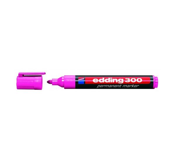Купить Маркер перманентный Edding 300 1, 5-3 мм с круглым наконечником, розовый, Германия