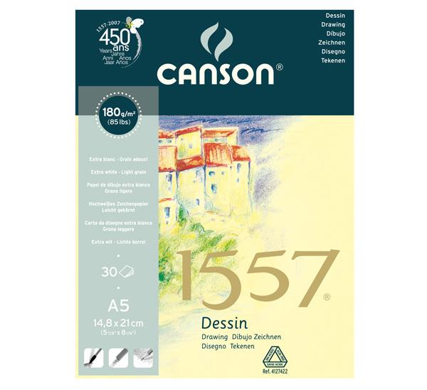 Купить Альбом для графики на спирали Canson 1557 14, 8*21 см 30 л 180 г, Франция