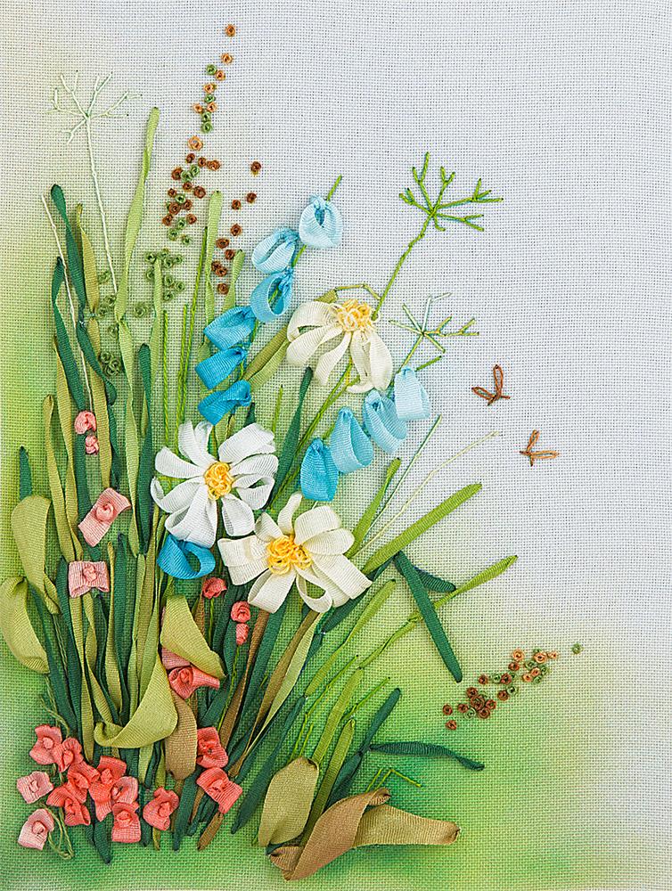 Купить Набор для вышивания PANNA Живая картина Полевые цветы. Ромашки , Россия