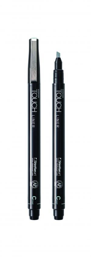 Купить Линер Touch Liner Chisel перо скошенное, серый холодный, ShinHan Art (Touch), Южная Корея