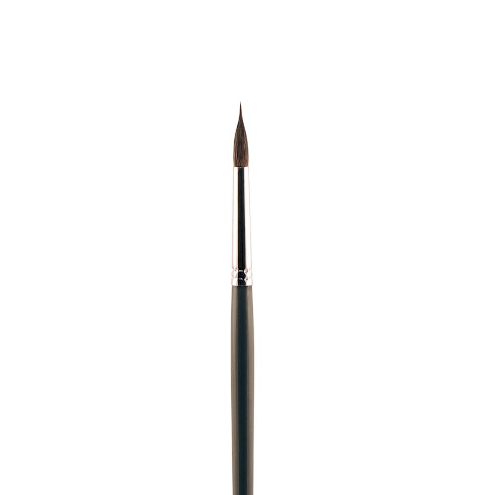 Купить Кисть колонок №9 круглая с заостренной вершинкой Альбатрос Line длинная ручка, Россия