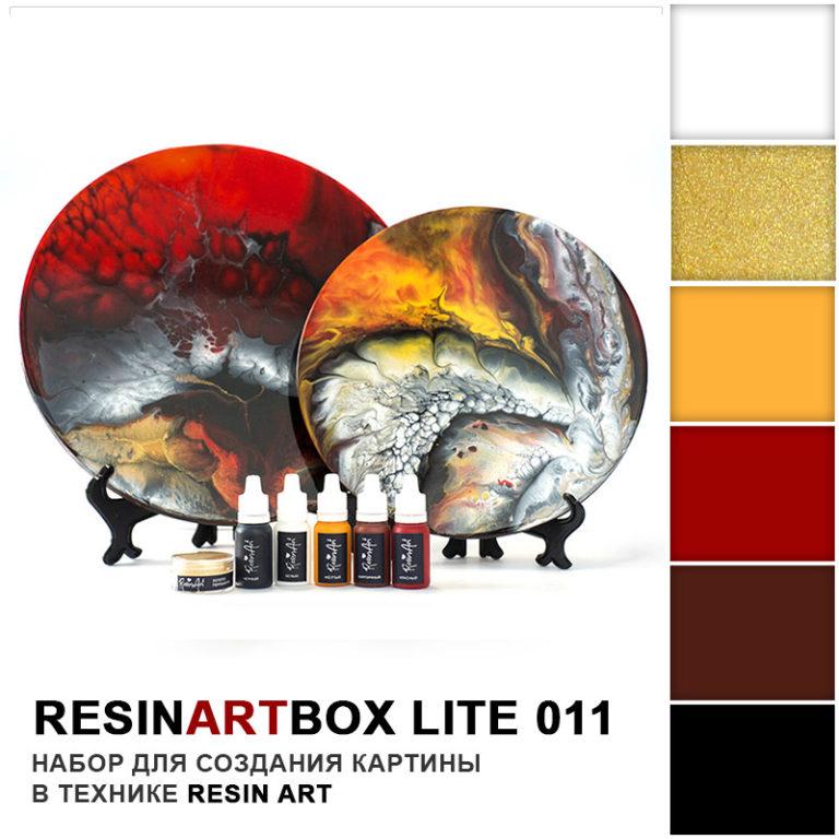 Купить Набор для создания картины из эпоксидной смолы ResinArtBox LITE 011 , Франция