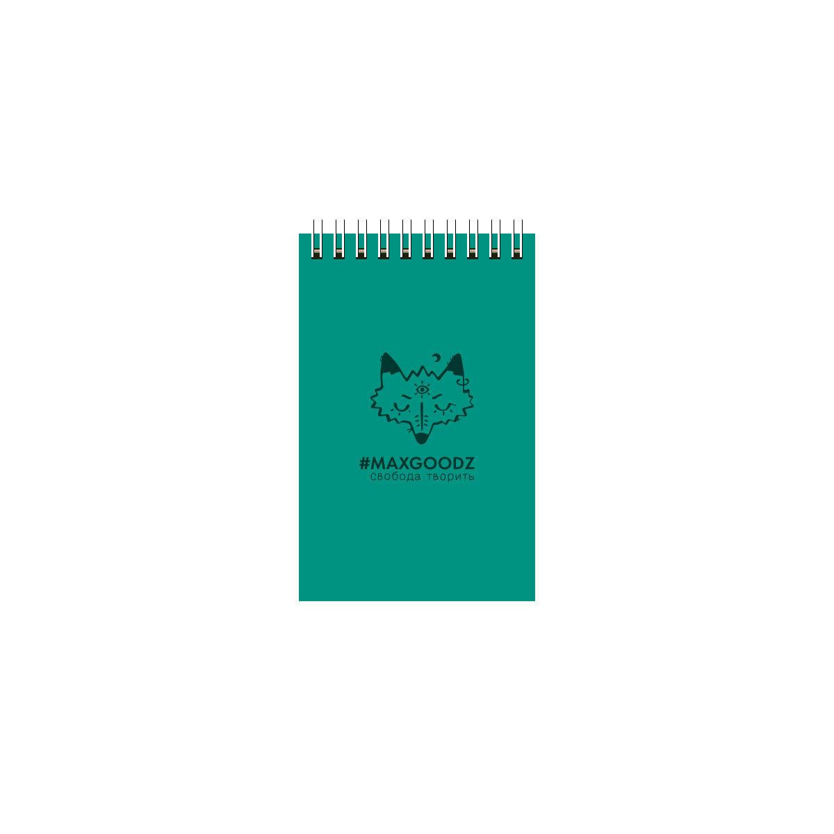 Купить Скетчбук на пружине Maxgoodz Aqua Mini А6 26 л 230 г Изумрудный, Россия