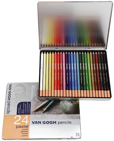 Купить Набор карандашей пастельных Talens Van Gogh 24 цв базовый в метал кор, Royal Talens