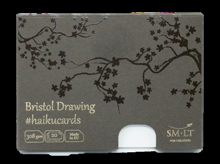 Купить Набор открыток SM-LT Drawing Bristol Haikucards (экстрабелые) 14, 7x10, 6 см 308 г 20 шт, Smiltainis, Литва