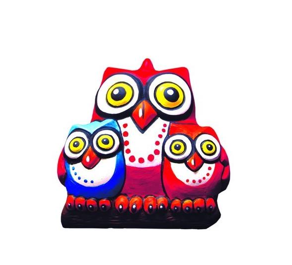 Фигурка для раскрашивания из керамики Совы , Bumbaram, Россия  - купить со скидкой