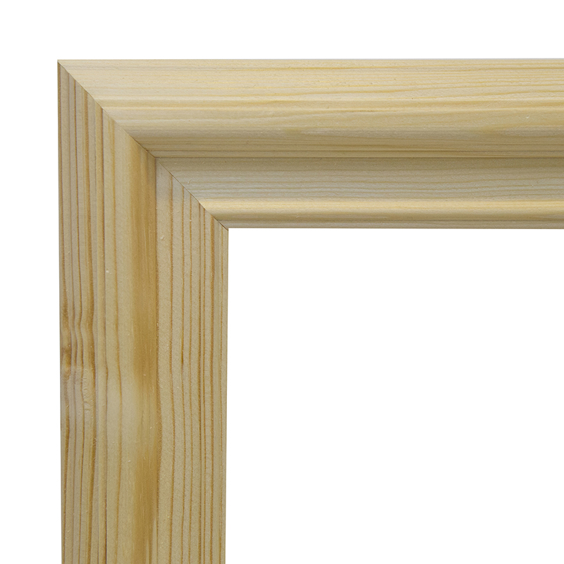 Рама 25х35 см деревянная некрашенная (ширина багета 4,7 см) фото