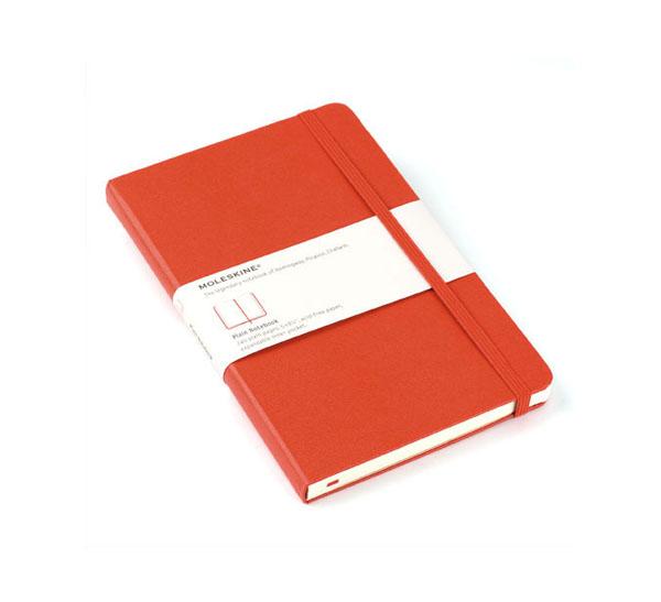 Записная книжка нелинованная Moleskine Classic Large обложка красная.