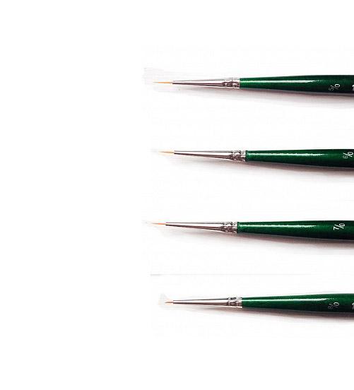 Купить Кисть синтетика круглая споттер Pinax Creative 271 короткая ручка, Китай