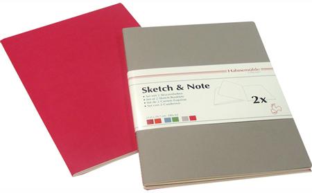 "Купить со скидкой Набор блокнотов Hahnemuhle ""Sketch & Note"" А6 2 шт*20 л 125 г серый/фуксия"