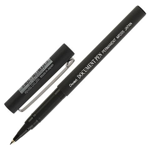 Роллер одноразовый Pentel Document Pen 0, 5 мм, черные чернила, Япония  - купить со скидкой