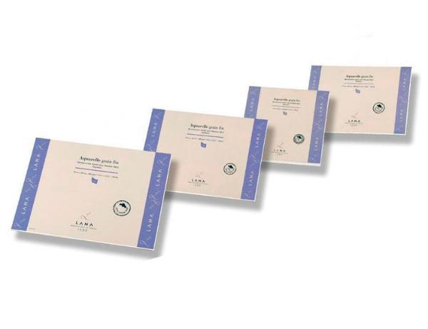 Альбом-склейка для акварели Lana Lanaquarelle Fin 24х32 см 12 л 300 г, Франция  - купить со скидкой