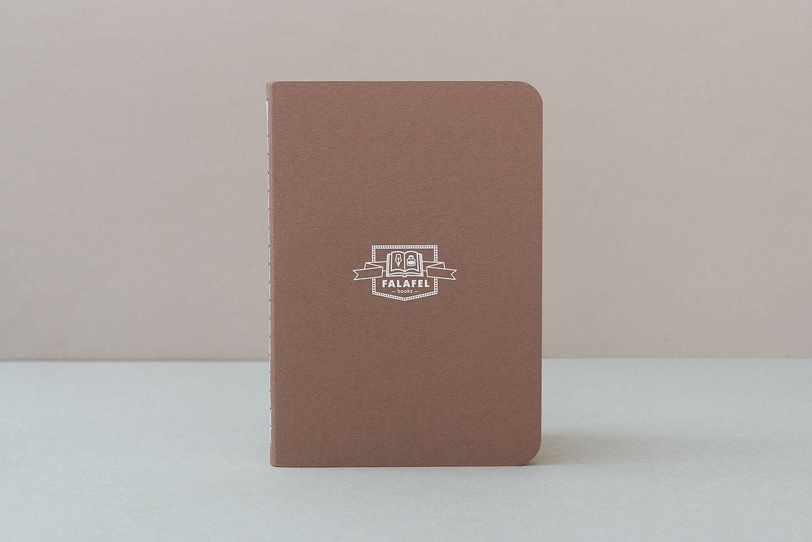 Купить Блокнот FALAFEL BOOKS А6S Brown, Россия