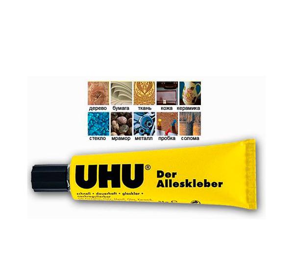 """Клей универсальный UHU """"Alleskleber Gel"""" 35 мл, в блистере"""