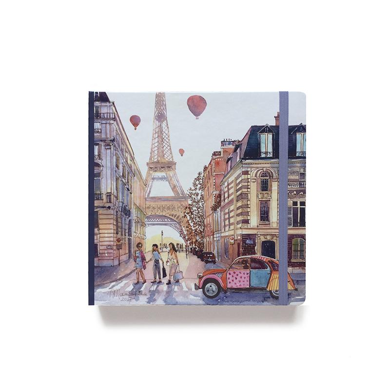 Купить Скетчбук акварельный Прогулка по Парижу 20х20 см 32 л 250 г хлопок 100%, Sketch Story, Россия