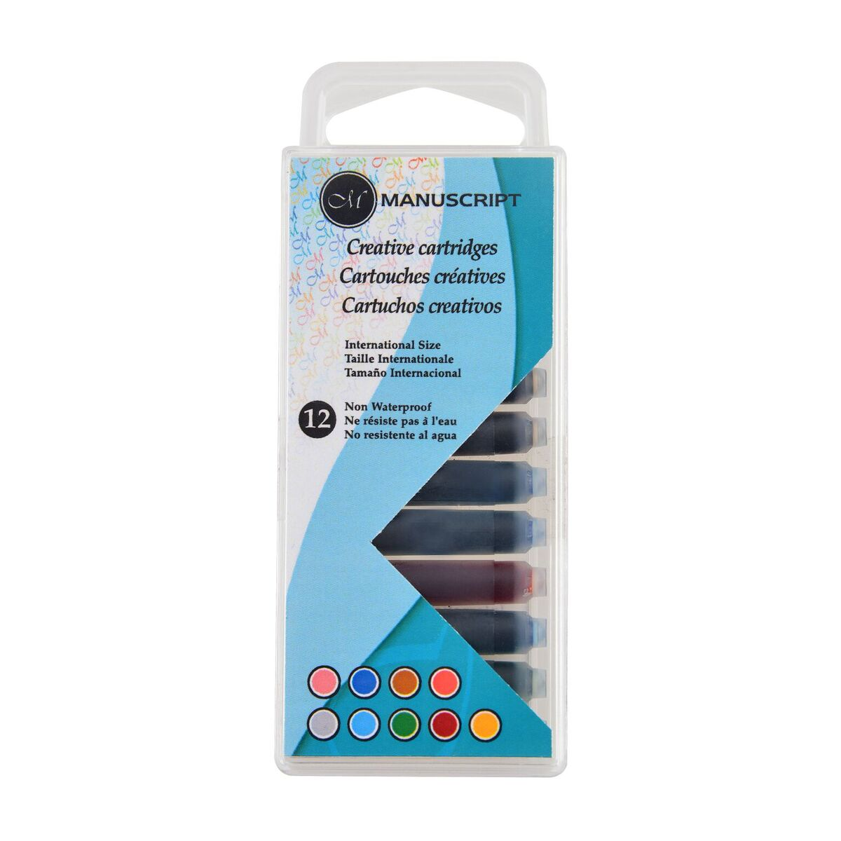 Купить Набор картриджей для перьевых ручек Manuscript Creative 12 шт, ассорти, 9 цветов