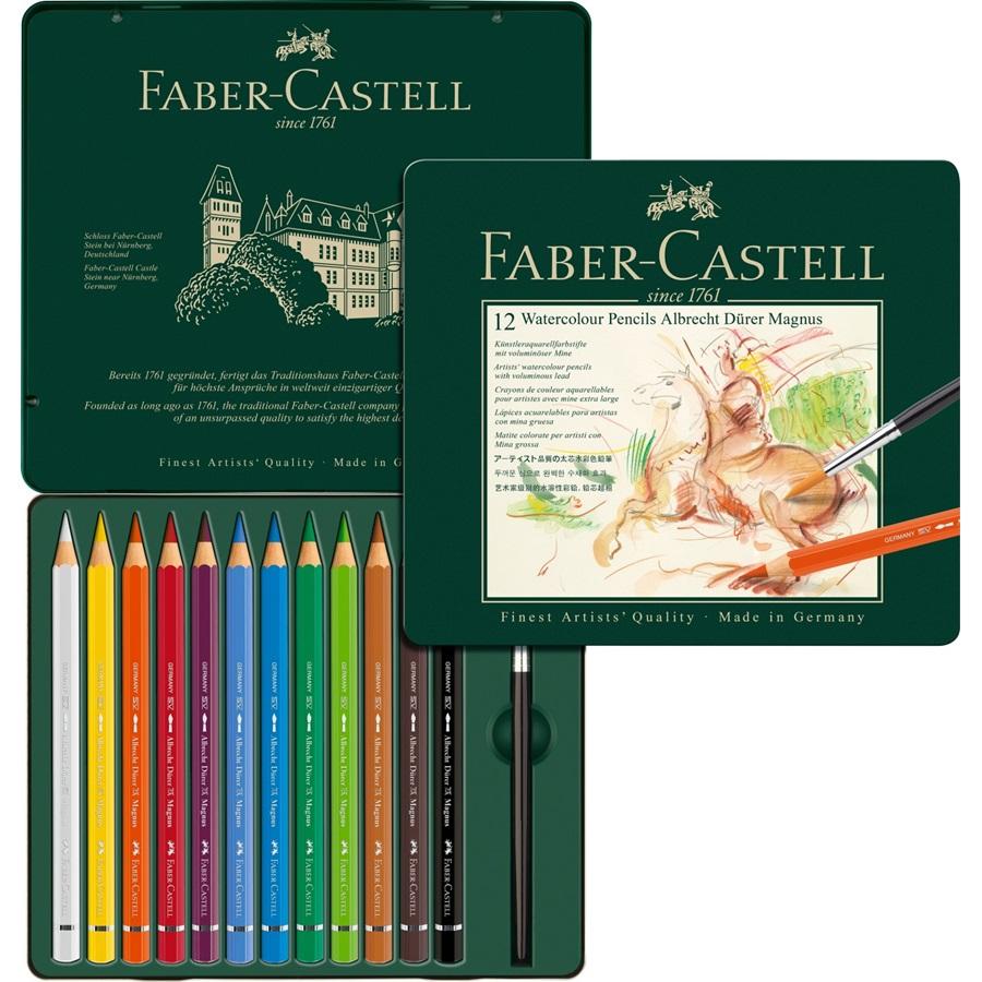 Купить Набор карандашей акварельных Faber-castell Albrecht Durer 12 цв, размер XL, проф-ные в металле, Faber–Сastell, Германия