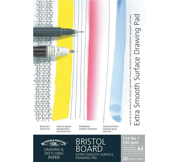 Купить Альбом для графики из плотного картона Winsor&Newton Bristol 29, 7х42 см 20 л 250 г, Winsor & Newton