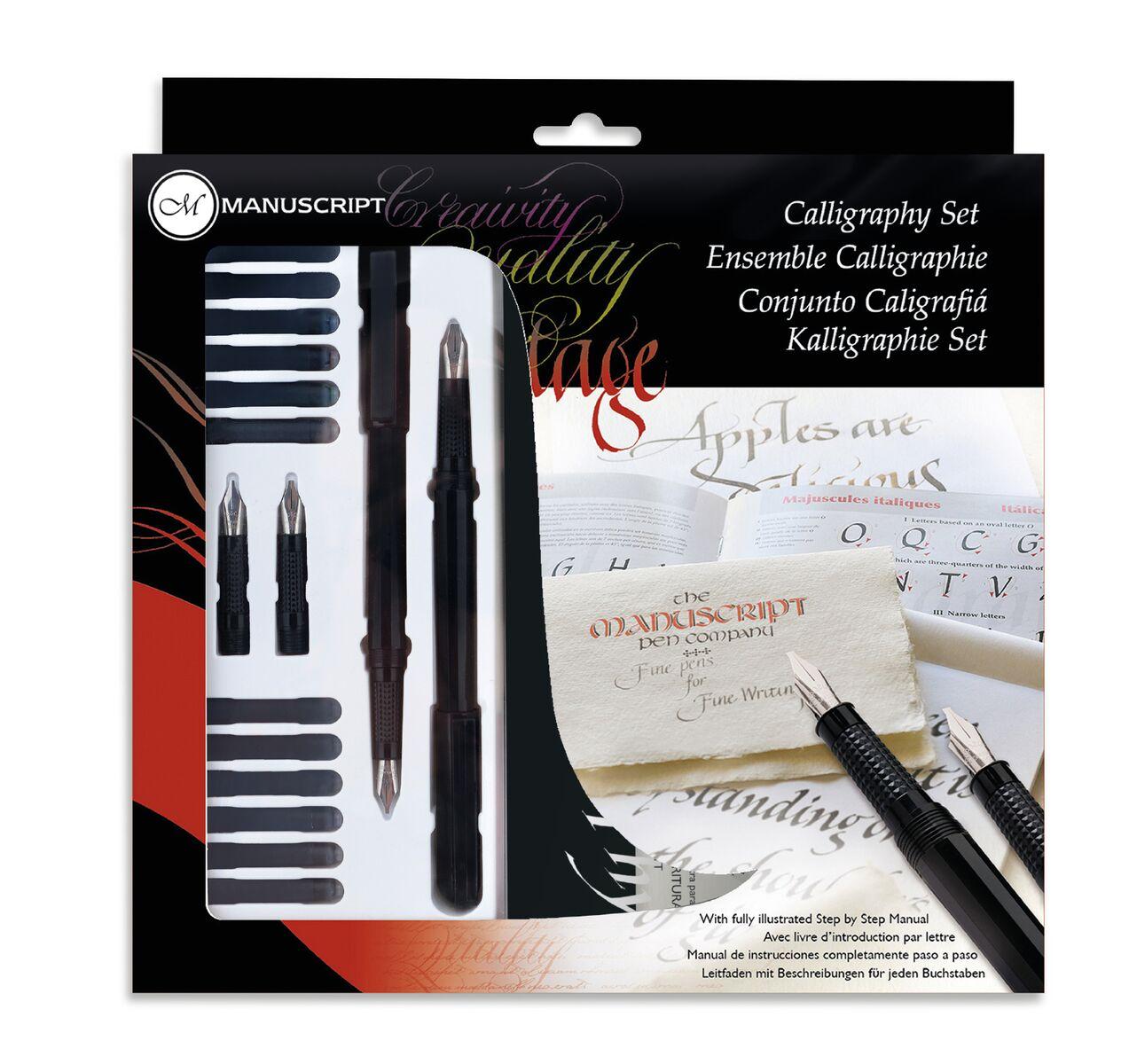 Купить Набор для каллиграфии Manuscript Calligraphy 4 с аксессуарами для левшей блистер
