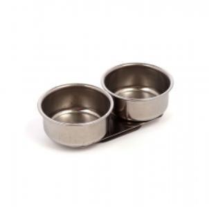 Купить Масленка двойная d-6, 1 см металлическая-цилиндр, без крышки, Китай