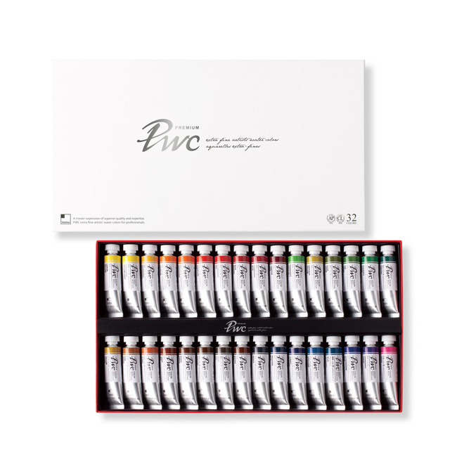 Купить Набор акварели ShinHanart PWC extra fine 32 цв*15 мл, ShinHan Art International Inc., Южная Корея