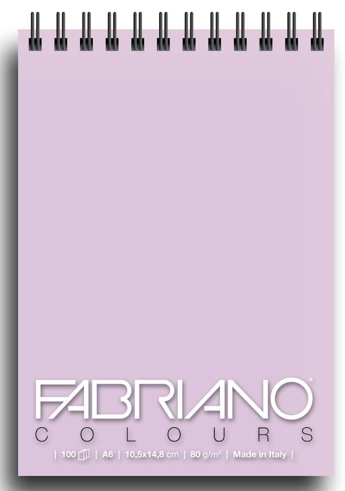 Альбом для графики на спирали Fabriano Writing Colors 105х148 см 100 л 80 г лаванда.