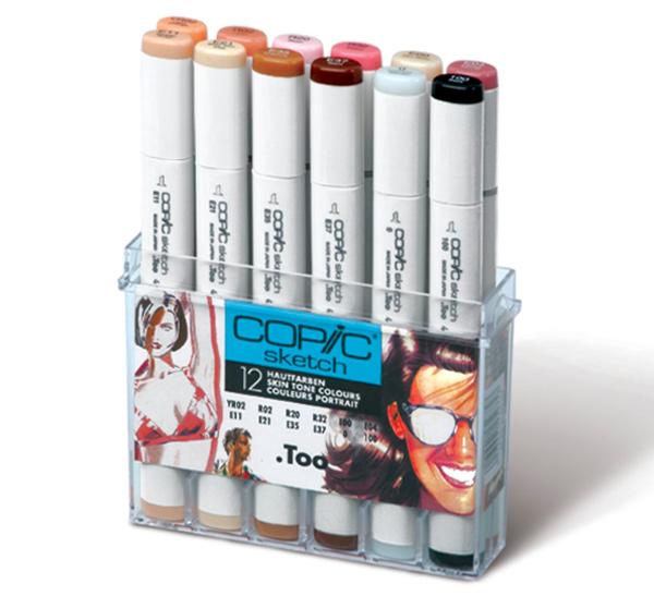 Купить Набор маркеров Copic Sketch 12 шт, Copic Too (Izumiya Co Inc), Япония