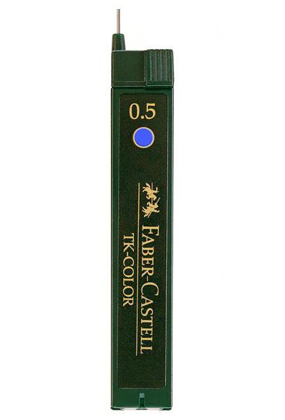 Купить Набор грифелей для механического карандаша TK-COLOR 12 шт 0, 5 мм 2H синий, Faber–Сastell, Германия