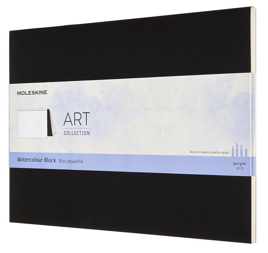 Блокнот для акварели Moleskine Art Watercolor 23х31 см 72 стр. обложка мягкая черная.