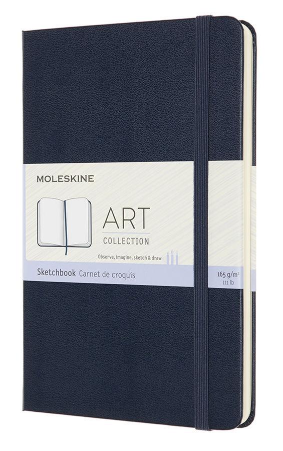 Блокнот для рисования нелинованный Moleskine Art Sketchbook 115х18 см 144 стр. обложка мягкая синий.