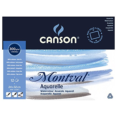 Купить Альбом-склейка для акварели Canson Montval Fin 24х32 см 12 л 300 г, Франция