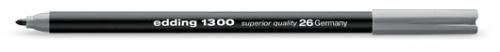 Фломастер Edding 1300 2 мм с круглым наконечником серебристо-серый.
