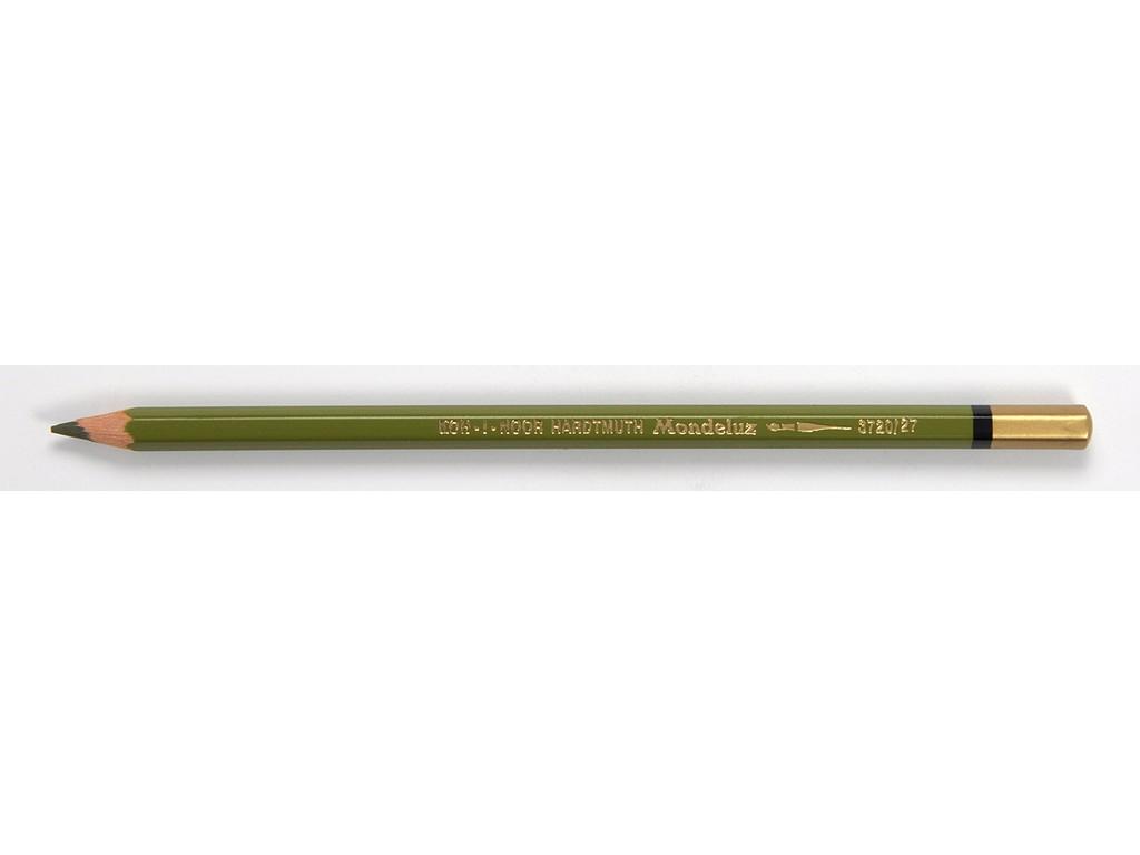 Купить Карандаш акварельный Koh-i-noor Mondeluz Оливково-зелёный тёмный, Чехия
