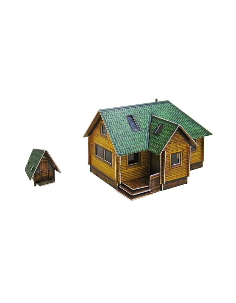Купить Сборная модель из картона Архитектура Дачный домик , Умная бумага, Россия