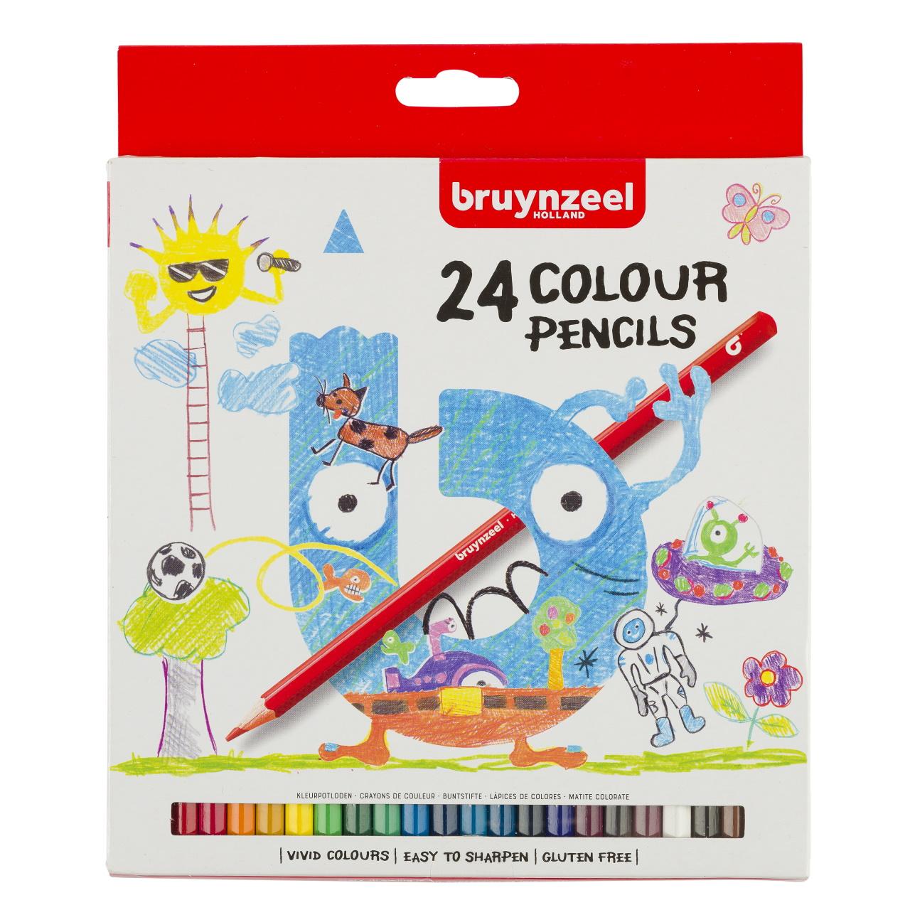 Купить Набор карандашей цветных Bruynzeel 24 шт в картонной коробке