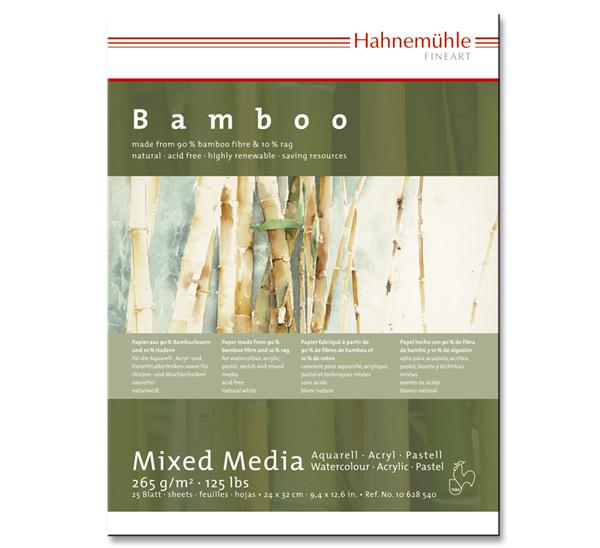 Купить Альбом-склейка из бамбуковой бумаги Hahnemuhle Bamboo. Mix Media 24x32 см 25 л 265 г, HAHNEMUHLE FINEART, Германия