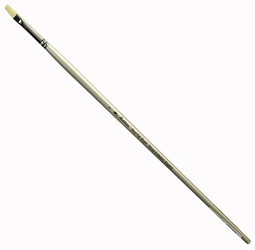 Купить Кисть синтетика №6 плоская Winsor&Newton Artisan длинная ручка, Winsor & Newton