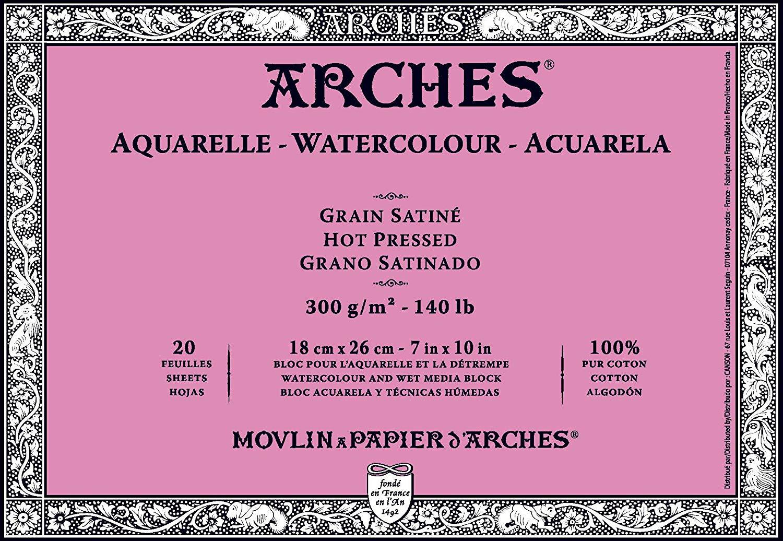 Купить Альбом-склейка для акварели Canson Arches Satin 21х29, 7 см 12 л 300 г, Франция