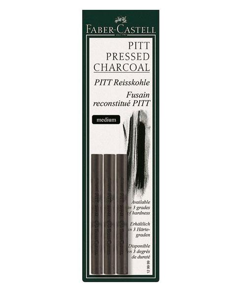 Купить Набор уголь прессованный Faber-castell Pitt Monochrome 3 шт средней твердости, Faber–Сastell, Германия