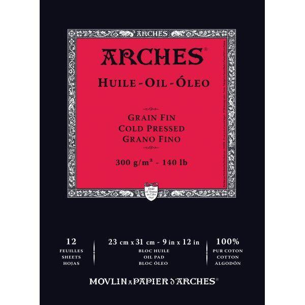 Купить Альбом-склейка для масла Canson Arches Huile 23х31 см 12 л 300 г, Франция
