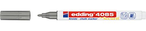 Купить Маркер меловой Edding 4085 1-2 мм с круглым наконечником, серебристый, Германия