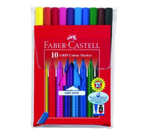 Купить Набор фломастеров Faber-castell Grip 10 цв, Faber–Сastell, Германия