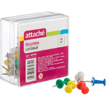 Кнопки для пробковых досок силовые Attache Selection 50 шт.
